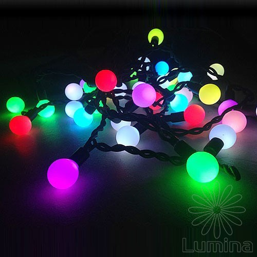 Вулична гірлянда Neo-neon Icicle RGB-ball 38Led 1х0.5м RGB/чорний IP44